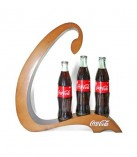 Wooden display for drinks