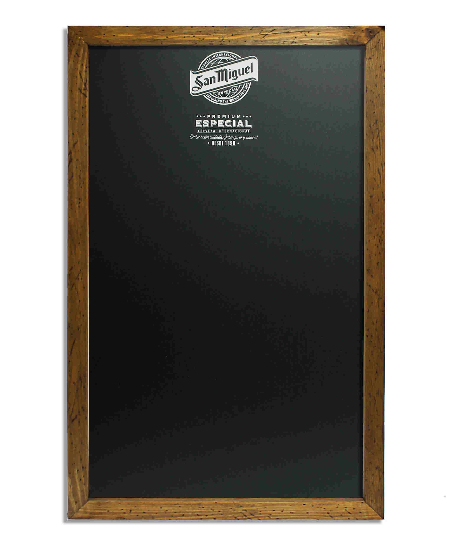 Wall Chalkboard Wooden Frame Adornos
