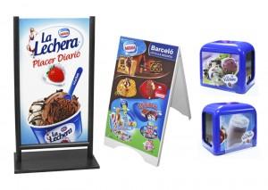 Publicidad para heladerías y cafeterías