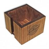 servilletero madera tintada y termograbado