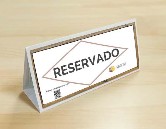 Cartel de reservado para imprimir
