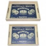 Bandejas madera Mahou fondo personalizado