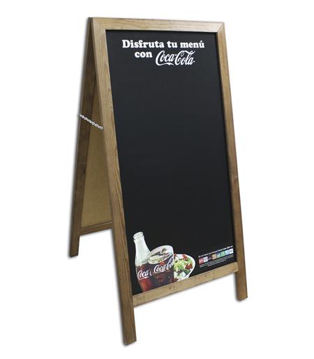 Cocacola_pizarra de calle doble red