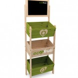 Mobiliario para alimentación con pizarra para ofertas