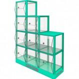 Mueble expendedor diferentes compartimentos