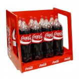 Mueble expendedor madera Cocacola red