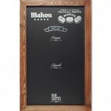 Pizarra de pared marco de madera Mahou