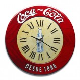 Reloj madera coca-cola