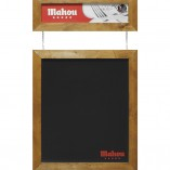 pizarra pared marco madera Mahou