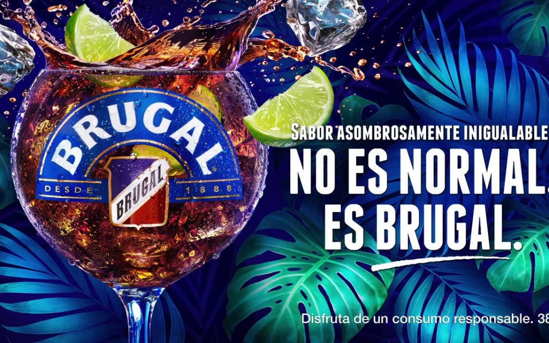 El packaging de brugal no es normal, sino muy especial.