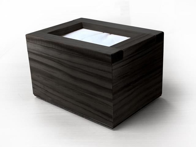 servilletero de madera negro